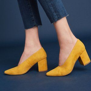Seychelles Yellow Suede Pumps 10